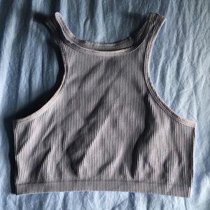 High neck bra top